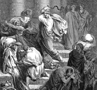 Os mercadores são expulsos do templo - Dore