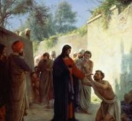 Cristo cura um cego - Bloch