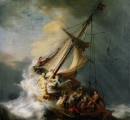 Cristo e a tormenta - Rembrandt