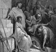Cristo sendo zombado - Dore