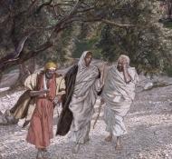 Discípulos na estrada para Emaus  - Tissot