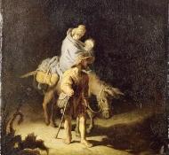 Fuga para o Egito - Rembrandt