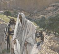 Jesus vai à noite para Betânia - Tissot