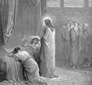 Jesus revive a filha de Jairo - Dore