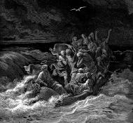 Jesus acalmando a tempestade - Dore