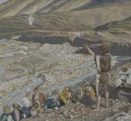 João Baptista vê Jesus de longe - Tissot