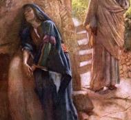 Maria Madalena, junto ao sepulcro