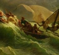 Cristo dormindo em seu barco